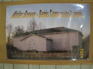 As seen in this poster, the Walter Brewer-Bemis Community Center will provide cultural and educational programming for the Bemis community with a particular focus on creating a space for children and the elderly.