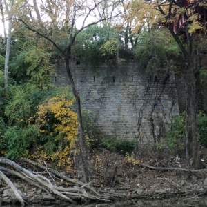 2.Cherokee traveling on the Northern Route of the Trail of Tears crossed the Cumberland River in Nashville by way of a covered toll bridge. This ca. 1819-1822 abutment is all that remains of the bridge today. Photo courtesy of Native History Association.