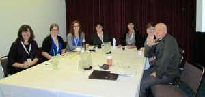 Ginna Foster Cannon, Rachel Boyle, Kim Connolly Hicks, Kristen Baldwin Deathridge, Eileen McMahon, Abigail Gautreau, and Ted Karamanski at our roundtable.