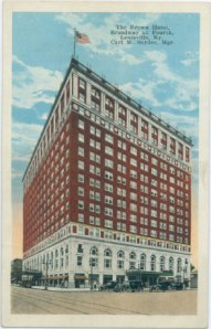 Postcard of the Brown Hotel in Louisville, KY. Courtesy of Old Louisville Guide.