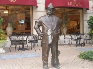 Statue of J. Graham Brown in front of the Brown Hotel in Louisville, KY. Courtesy of Jeffrey Scott Holland.