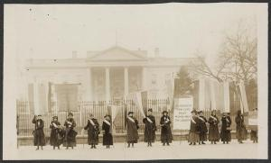 Penn[sylvania] on the picket line-- 1917. Courtesy of the Library of Congress.
