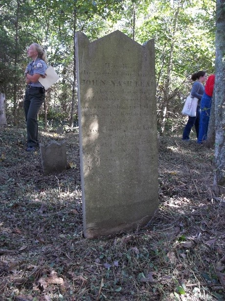 John Nash Read's tall, imposing tombstone records his birth in Charlotte County, Virginia, and his migration to Rutherford County, Tennessee, in 1806.