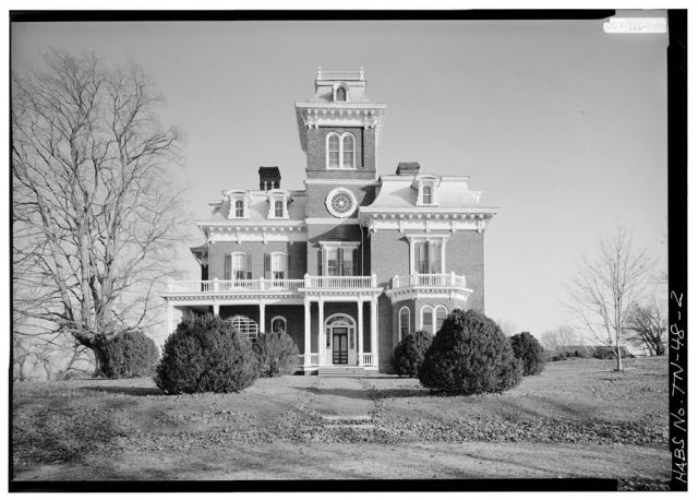 Glenmore Mansion in 1983, from the Historic American Buildings Survey. Courtesy Library of Congress.