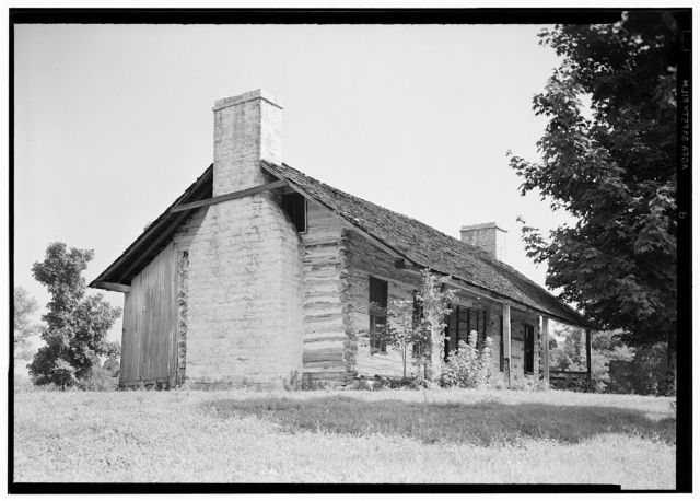 The Harding Cabin in 1940, from the Historic American Buildings Survey. Courtesy Library of Congress.