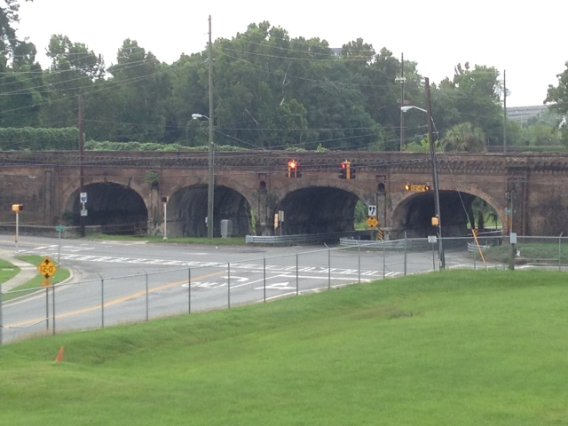 This railroad viaduct dates to the 1850s and now serves as a walking trail for the community.