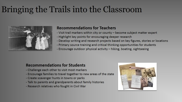 PPT Slide Trails in the Classroom