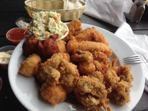 We enjoyed wonderful seafood in Savannah.