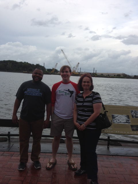 With Joey Bryan and Leigh Ann Gardner at the Savannah riverfront.