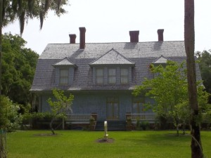 Mistletoe Cottage, constructed in about 1900, is located in the Jekyll Island Historic District.
