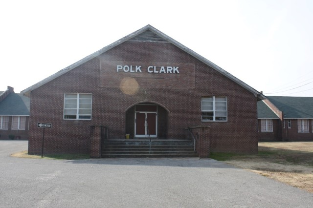 Originally called the Industrial Training School for Negroes and later named the Gibson County Training School, Polk-Clark School was the first four-year high school for African Americans in Gibson County.  It is now a community center with exhibits about its history.