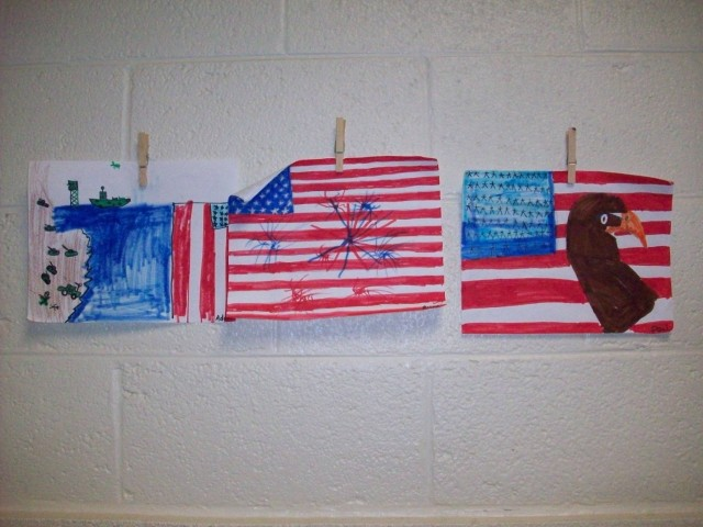 Visitors to our Veterans Day program had the opportunity to view the students' artwork.