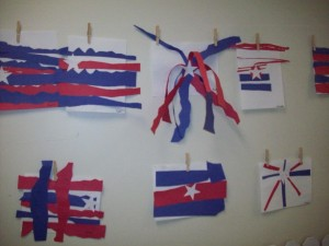 A sample of the displays that classes had created with our art teacher.