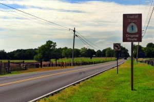The Old Nashville Highway is part of the Northern Route of the Trail of Tears.