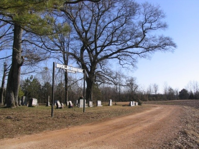 The Buckley Cemetery faces west, with the burials following a traditional east-west orientation.