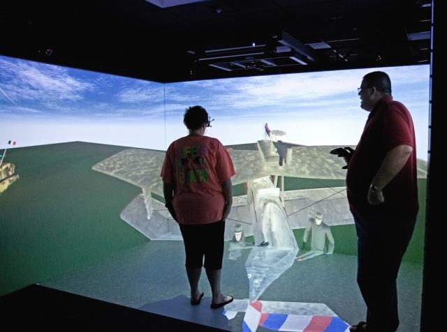 Virtual reality--the future of teaching history? Courtesy of TSLA.