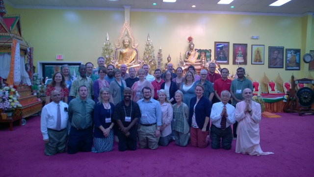 Workshop participants visited the Laotian Wat Buddharam Temple in Murfreesboro.