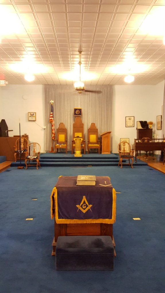 The 2nd floor, where the Blue Lodge has met since 1826.