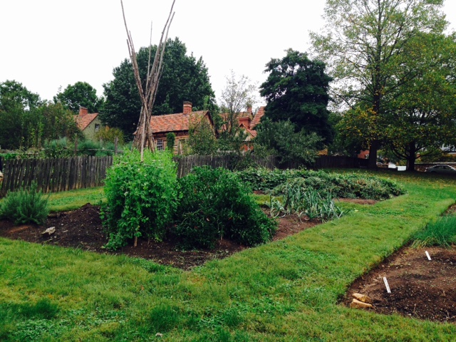 One of the gardens at Old Salem.