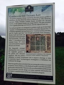 Reuter garden diagram sign, Old Salem.