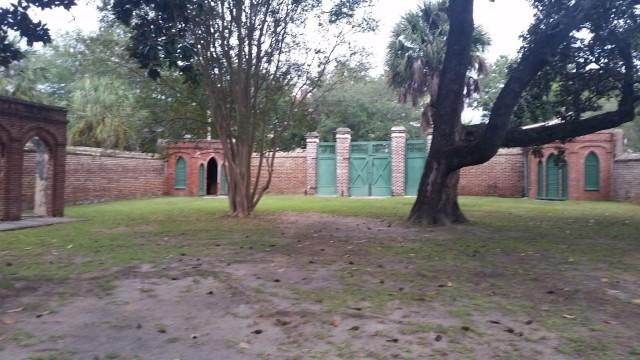 Courtyard of the Aiken Rhett House in Charleston, S.C.