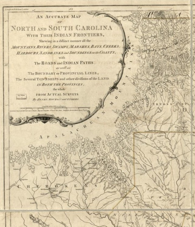 NC and SC Map from LOC